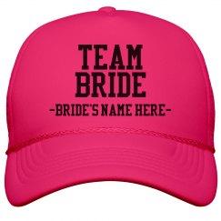 Custom Team Bride Hat