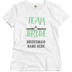 Custom Team Bride Bridesmaid Design