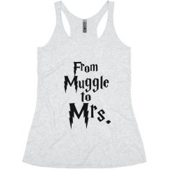 From Muggle To Mrs. Bride tank