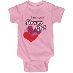 Flower Girl Tee Hearts