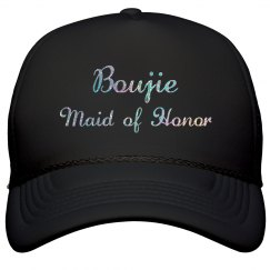 Boujie Customizable Bridal Party Silver Glitter Cap