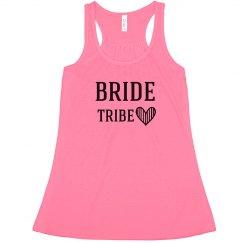 Pink  Bride Tribe Tank