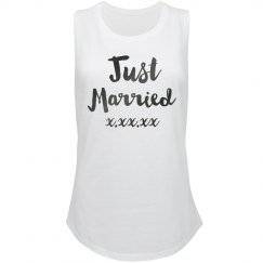 Just Married Custom Racerback Crop