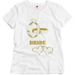 Bride Gold Ring Tee