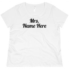 Mrs. Custom Metallic Name Plus Size