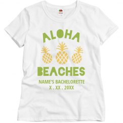 Custom Aloha Beaches Bachelorette