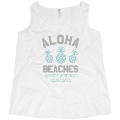 Custom Plus Size Aloha Bridesmaid Tank