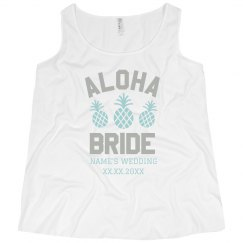Custom Plus Size Aloha Bride Tank