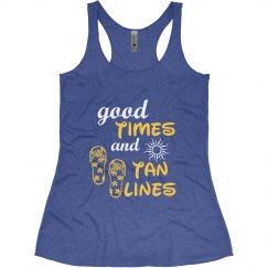 Good Times and Tan Lines Honeymoon Tank