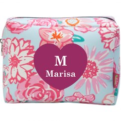 Monogram Bridesmaid Cosmetic Makeup Bag
