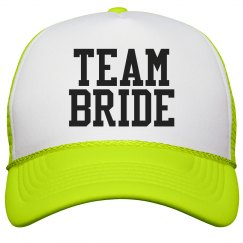 Team Bride Varsity Yellow