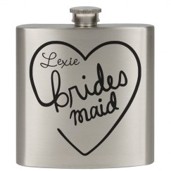 Heart Flasks Bridesmaid
