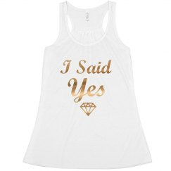 I Said Yes, Bride Las Vegas Bachelorette Tank top