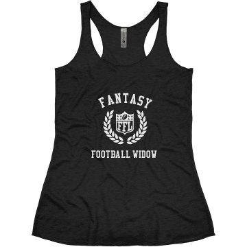 Fantasy Football Widow Funny Sports Wife