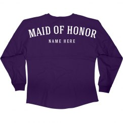 Maid Of Honor Name Jersey