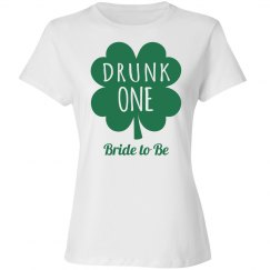 Drunk St Patricks Group Bride