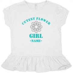 Custom Name Cutest Flower Girl