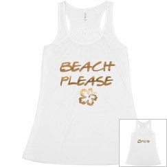 Beach Please Bride Bachelorette tank top