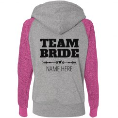 Custom Team Bride Heart Arrow