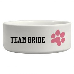 Team Bride Pet Bowl