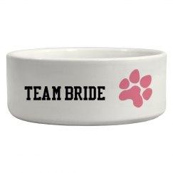 Team Bride Pet Bowl