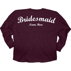 Custom Name Bridesmaid Jersey
