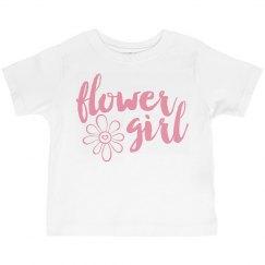 Flower Girl with flower toddler T-shirt