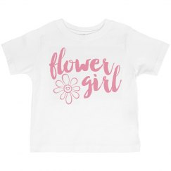Flower Girl with flower toddler T-shirt
