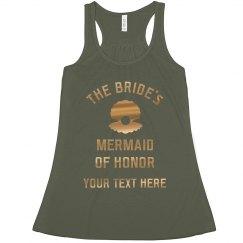 Metallic Bride's Mermaid Of Honor
