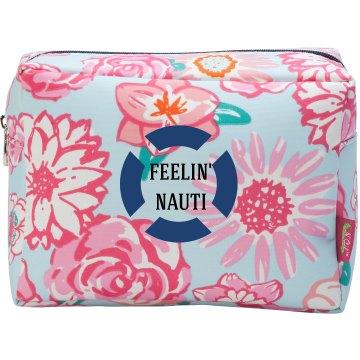 Feelin Nauti Anchor Makeup Bag