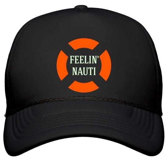 Feelin Nauti Anchor Trucker Hat