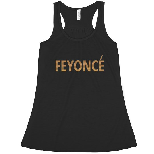 Feyonce Tank top in Gold Foil Print