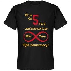 5 On It Anniversary T (Black)
