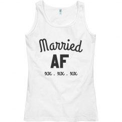 Married AF Custom Date Tank