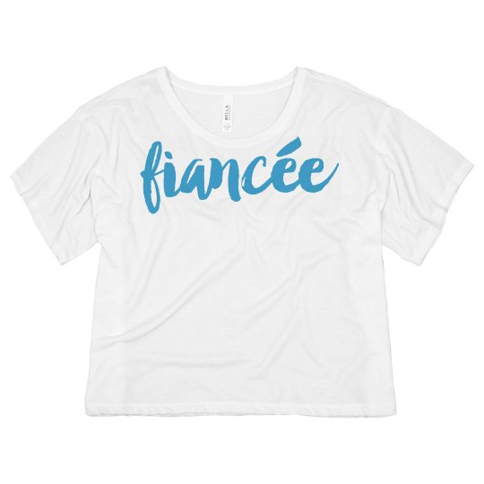 Fiancée Illustration Crop Top