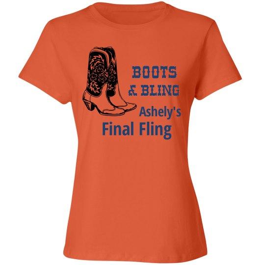 Final Fling Bling Tees