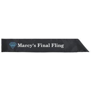 Final Fling Vegas Sash