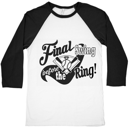 Final swing before the ring baseball tee