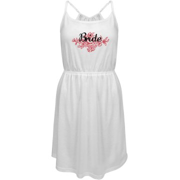 Floral Bride Dress