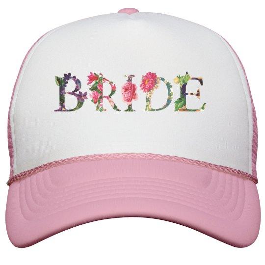 Floral Bride Hat