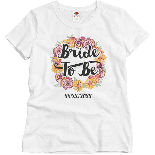 Floral Bride To Be Design