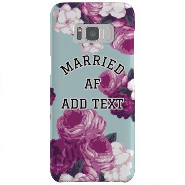 Floral Custom Married AF