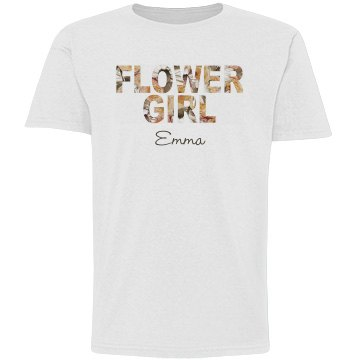 Floral Flower Girl Text