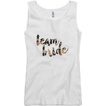 Floral Team Bride Tank Top