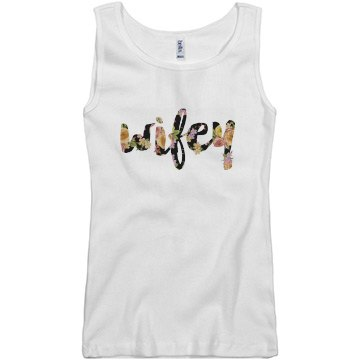 Floral Wifey Tank Top