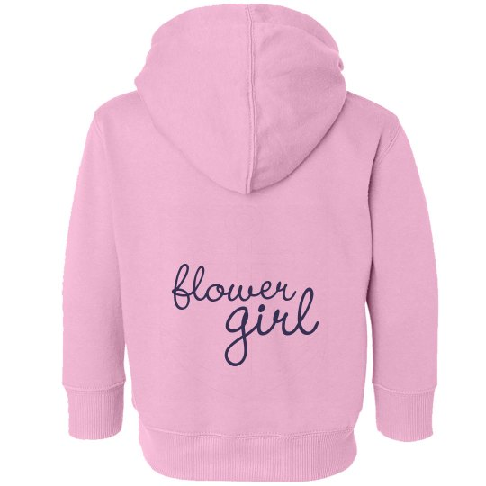 Flower Girl - Pink Anchor Hoodie
