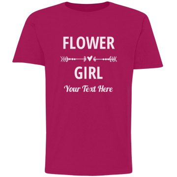 Flower Girl Heart & Arrow Custom Bridal Party Gift