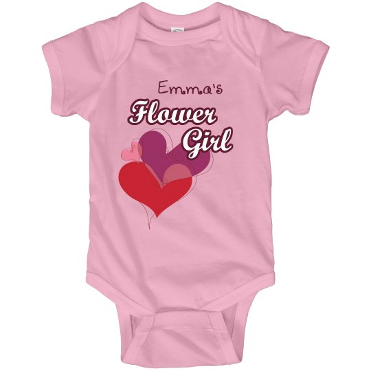 Flower Girl Tee Hearts