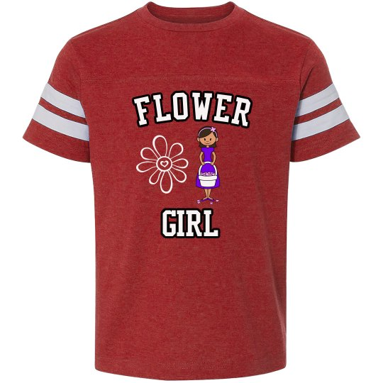 Flower Girl Vintage Football T-Shirts