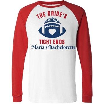 Football Bachelorette Party Shirt for Bride